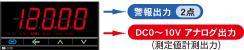 警報出力2点・DC0〜10Vアナログ出力付き